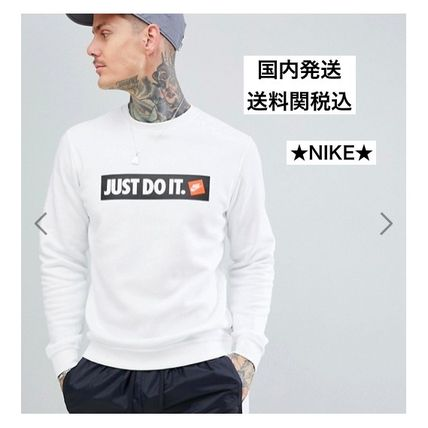 Nike Sweatshirts Crew Neck Sweat Street Style Long Sleeves Sweatshirts