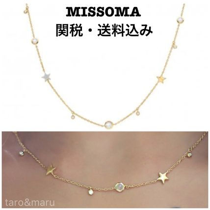 Star Casual Style 18K Gold Necklaces & Pendants