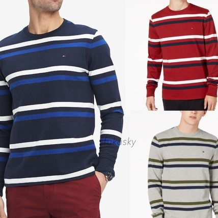 ... Tommy Hilfiger Long Sleeve Crew Neck Stripes Long Sleeves Cotton Long  Sleeve T-Shirts ... 23cf12f74a
