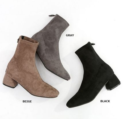 Argile Round Toe Casual Style Suede Blended Fabrics
