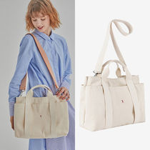 JOSEPH&STACEY Casual Style Canvas A4 2WAY Plain Totes