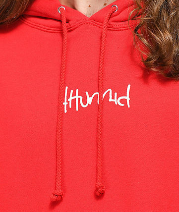 4HUNNID Hoodies Pullovers Street Style Long Sleeves Hoodies 4