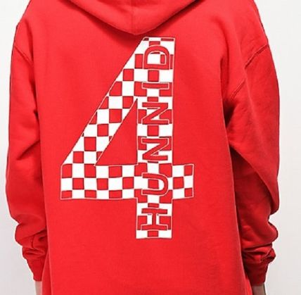 4HUNNID Hoodies Pullovers Street Style Long Sleeves Hoodies 6
