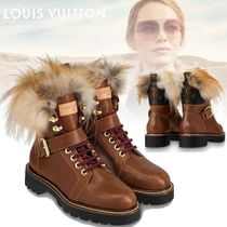 Louis Vuitton MONOGRAM Monoglam Plain Toe Mountain Boots Rubber Sole Unisex