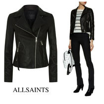 ALLSAINTS SPITALFIELDS Short Plain Leather Biker Jackets