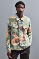 STUSSY Pullovers Camouflage Street Style Long Sleeves Shirts