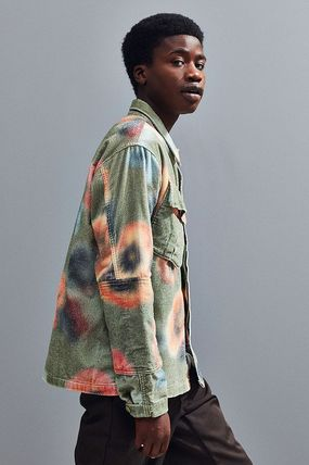 STUSSY Pullovers Camouflage Street Style Long Sleeves Skater Style