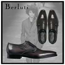 Berluti Straight Tip Monk Plain Leather Loafers & Slip-ons