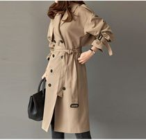 TOM&RABBIT Casual Style Plain Long Oversized Trench Coats