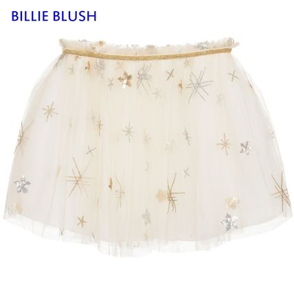 Blended Fabrics With Jewels Kids Girl  Bottoms