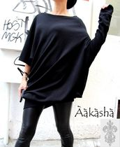 Aakasha Boat Neck Long Sleeves Plain Cotton Medium Handmade Tunics