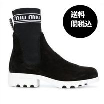 MiuMiu Rubber Sole Casual Style Boots Boots