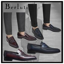 Berluti Loafers Other Animal Patterns Leather V Tips