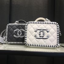 CHANEL Stripes Calfskin 2WAY Chain Shoulder Bags