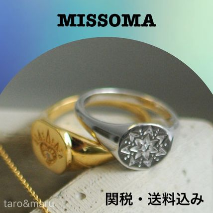 Star Casual Style Silver Rings