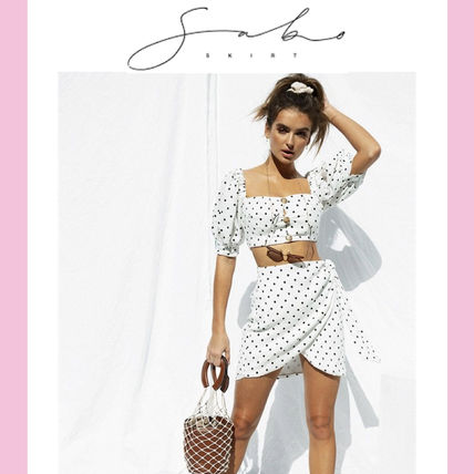 Short Dots Casual Style Short Sleeves Dresses