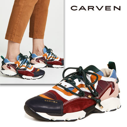 Plain Toe Rubber Sole Casual Style Street Style Leather