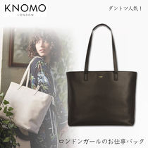 KNOMO A4 2WAY Plain Leather Office Style Totes