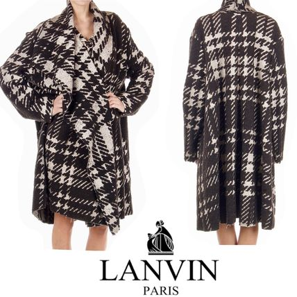 Other Check Patterns Cashmere & Fur Coats