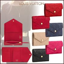 Louis Vuitton MONOGRAM EMPREINTE Monogram Blended Fabrics Leather Folding Wallets