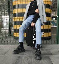 Denim Street Style Plain Skinny Fit Jeans & Denim