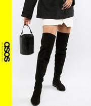 ASOS Casual Style Suede Over-the-Knee Boots