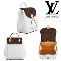 7fedab6bfc0 Louis Vuitton HOT SPRINGS Monoglam Casual Style 2WAY 3WAY Bi-color Leather  Backpacks