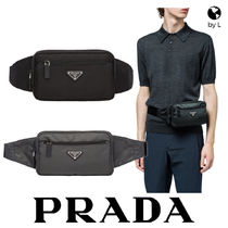 PRADA Nylon Plain Hip Packs