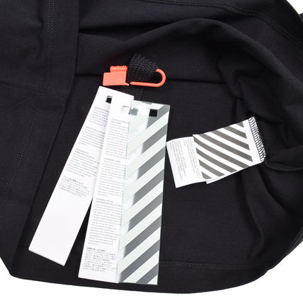 Off-White Long Sleeve Crew Neck Pullovers Street Style Long Sleeves Cotton 4