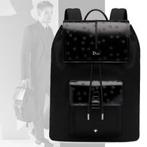 DIOR HOMME Street Style 2WAY Plain Leather Backpacks