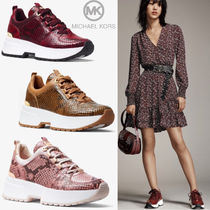Michael Kors Round Toe Rubber Sole Casual Style Other Animal Patterns