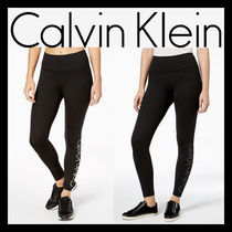 Calvin Klein Nylon Street Style Plain Leggings Pants
