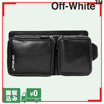 Off-White Unisex Street Style Plain Leather Hip Packs