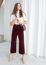& Other Stories Corduroy Plain Medium Culottes & Gaucho Pants