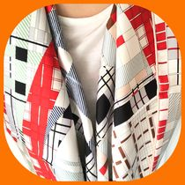 HERMES Other Check Patterns Casual Style Silk Home Party Ideas