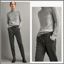 Massimo Dutti Casual Style Plain Long Pants