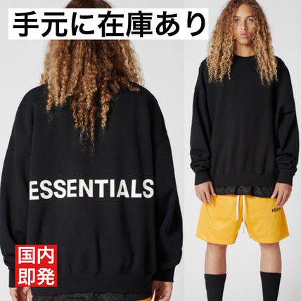 FEAR OF GOD Sweatshirts Street Style U-Neck Collaboration Long Sleeves Cotton