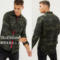 Hollister Co. Pullovers Camouflage Street Style Long Sleeves Cotton Shirts