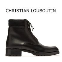 Christian Louboutin Plain Toe Plain Leather Chukkas Boots