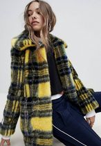 Glen Patterns Tartan Faux Fur Street Style Collaboration