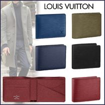 Louis Vuitton EPI Plain Leather Khaki Bold Folding Wallets