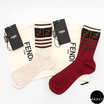 FENDI Monogram Cotton Socks & Tights