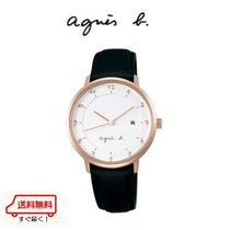 Agnes b Round Stainless Elegant Style Analog Watches