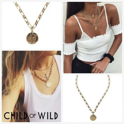 Unisex Coin Street Style Chain Elegant Style