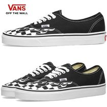 VANS AUTHENTIC Other Check Patterns Street Style Plain Sneakers