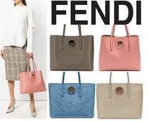 FENDI A4 Plain Leather Totes