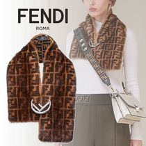 FENDI Monogram Silk Blended Fabrics Detachable Collars