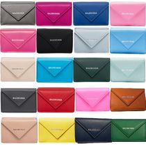 BALENCIAGA PAPIER A4 Calfskin Plain Folding Wallets