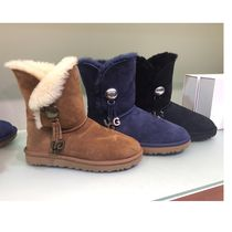 UGG Australia BAILEY BUTTON Sheepskin Plain Flat Boots