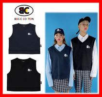 BASIC COTTON Casual Style Unisex Street Style Cotton Vests